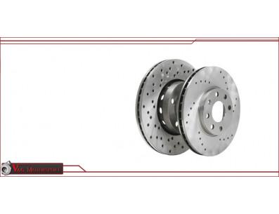 Disques de frein avant Zimmermann percés 312x25 Golf4 2.8 4motion New Beetle RSI
