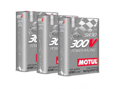 Huile Motul 300V Power Racing 5w30 (3 x 2L)
