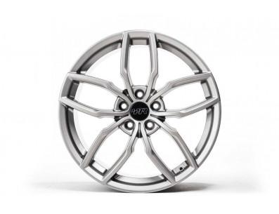 1 Jante VW RacingLine R360 Gunmetal Grey en R360 Silver Finish en 19x8.5 ET44 5x112