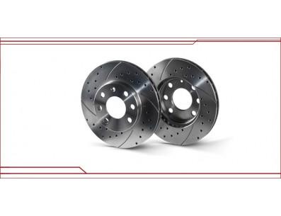2 Disques de frein avant SPORT moteur G60 rainurés percés en 280x22mm
