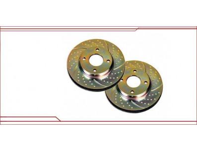 Disques de frein avant EBC Turbo Groove G60 rainurés pointés en 280x22mm