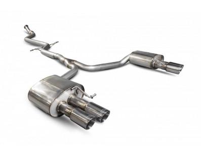 Demi-Ligne Catback Scorpion QUAD sans silencieux intermédiaire AUDI A5 B8 B8.5 8T 2.0 TFSI 180CV 210cv 225cv 2 roues motrices