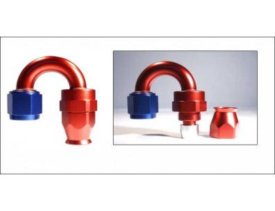 Raccord 180° DASH 4 an4 - série 200 - bleu et rouge