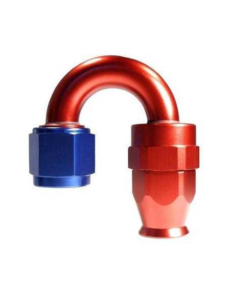 Raccord 180° DASH 6 an6 - série 200 - bleu et rouge