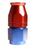 Raccord DROIT DASH 6 an6 - série 200 - bleu et rouge