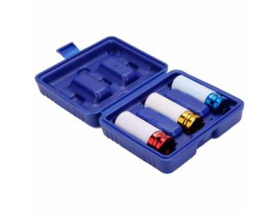 Set de 3 douilles a choc 17-19-21 mm pour écrou de roue protection jante alu