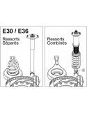 Kit Combinés filetés D2 Super Racing pour BMW M3 E30 ressort combinés jambes de force 51mm
