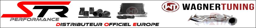 STR Performance Distributeur Officiel France Europe DOM-TOM de la marque WAGNER TUNING - Echangeur intercooler, downpipe, durite, charger cooler